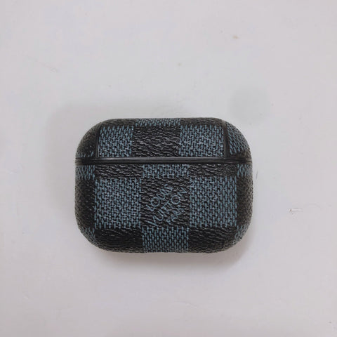 Louis Vuitton Blue And Black Checkered Case For AirPods Pro