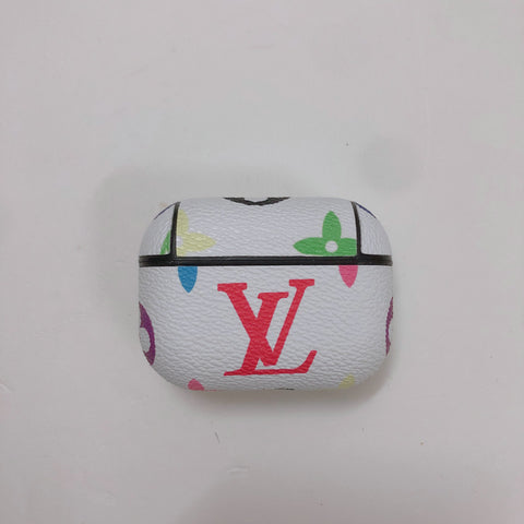 White Rainbow Louis Vuitton 'LV' Case For AirPods Pro