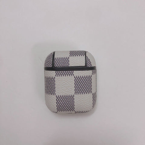 Louis Vuitton White And Black Checkered Case For AirPods 1/2