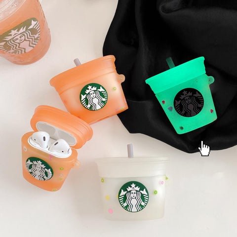 Starbucks Cup Glow In The Dark Cases For AirPods 1/2 And Pro