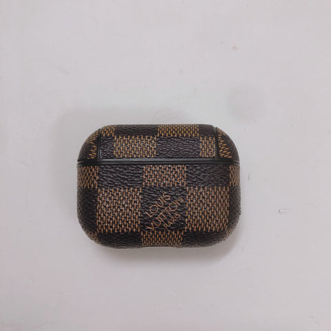 Louis Vuitton Brown And Black Checkered Case For AirPods Pro