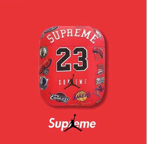 Red Jordan x Supreme Case For AirPods 1/2