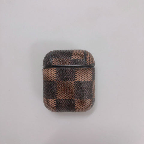 Louis Vuitton Brown And Black Checkered Case For AirPods 1/2