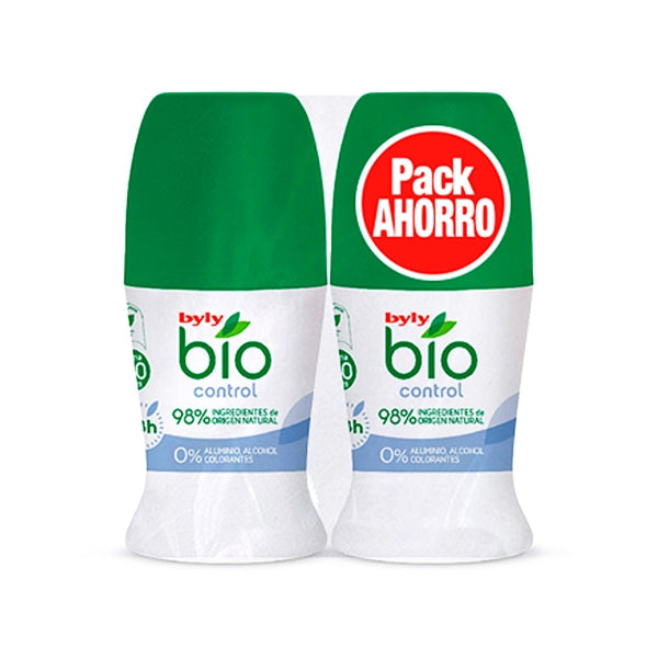 DÉSODORISANT ROLL-ON BIO NATURAL 0% BYLY (2 PCS)