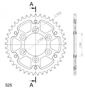 Supersprox Stealth Rear Sprocket RST1489.41