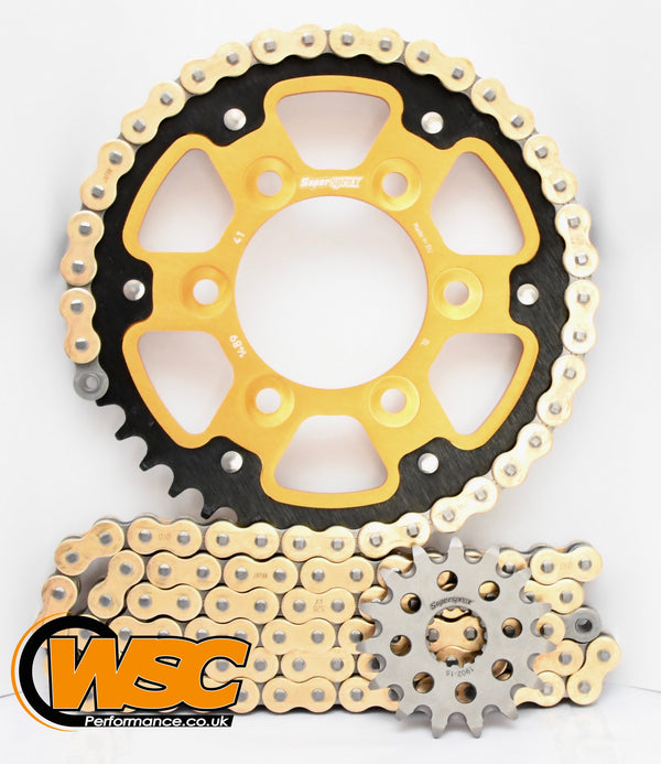 Supersprox Chain & Sprocket Kit for Kawasaki ZX-6R 2003-2006 (Inc RR) - Standard Gearing