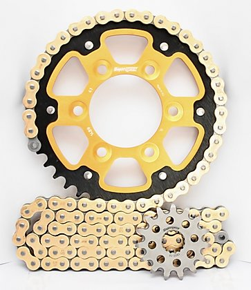 Supersprox Chain & Sprocket Kit for Kawasaki ZX6R 98-02 - Standard Gearing
