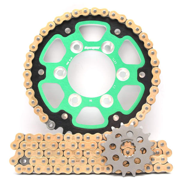 Supersprox Chain & Sprocket Kit Kawasaki ZX6R 1998-2002 - Choose Your Gearing