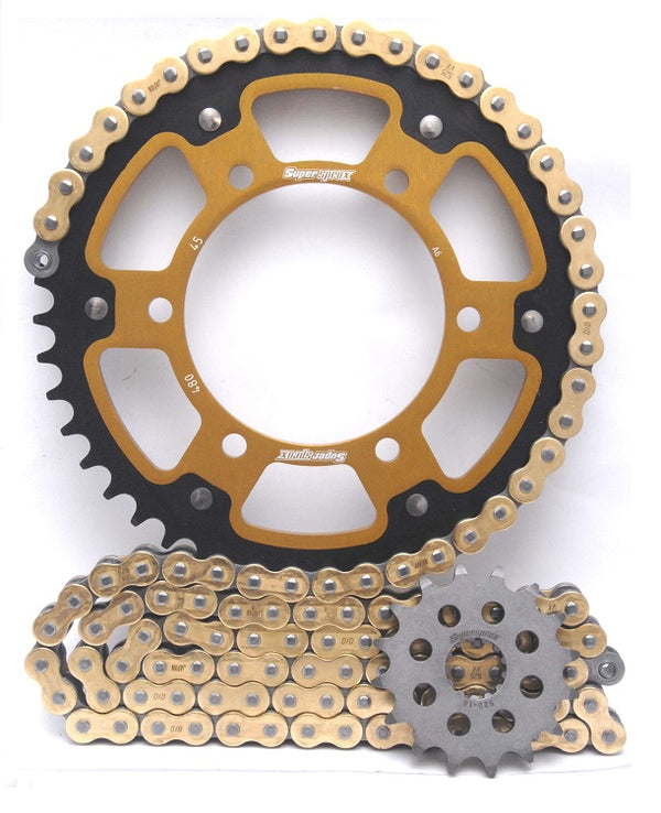 Supersprox Chain and Sprocket Kit - Triumph Daytona 675 (Inc R) 06-17 - Standard Gearing