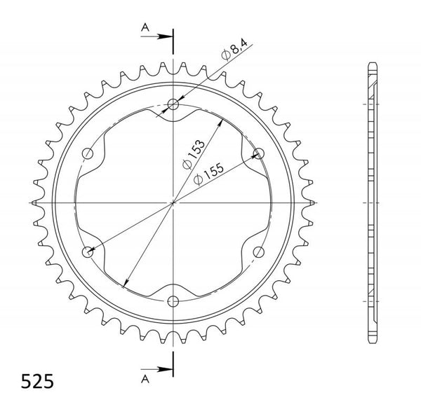 Supersprox Rear Sprocket 613.39