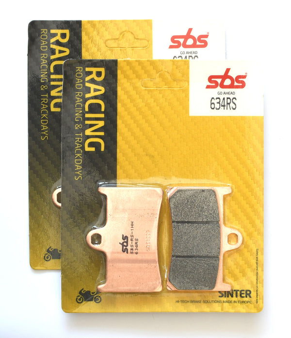 SBS 634RS Racing Sinter Brake Pads (Full Front Set)