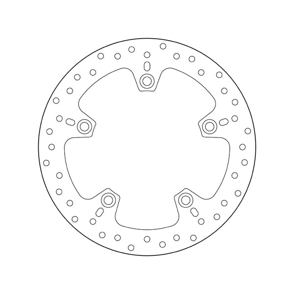 Brembo Serie Oro Fixed Brake Disc - Rear (68.B407.C0)