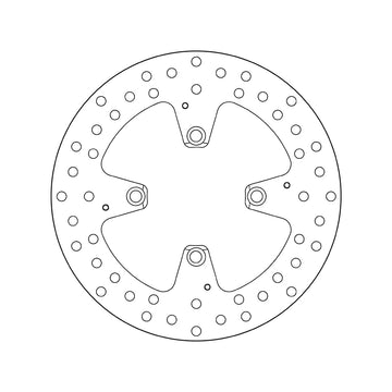 Brembo Serie Oro Fixed Brake Disc - Rear (68.B407.H1)