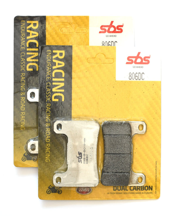 SBS 806DC Dual Carbon Racing Brake Pads (Full Front Set)