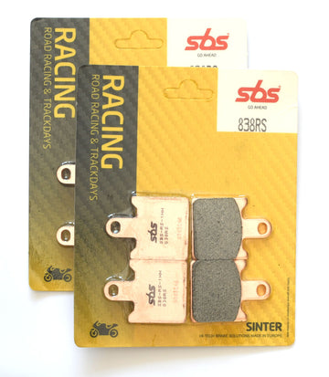 SBS 838RS Racing Sinter Brake Pads (Full Front Set)