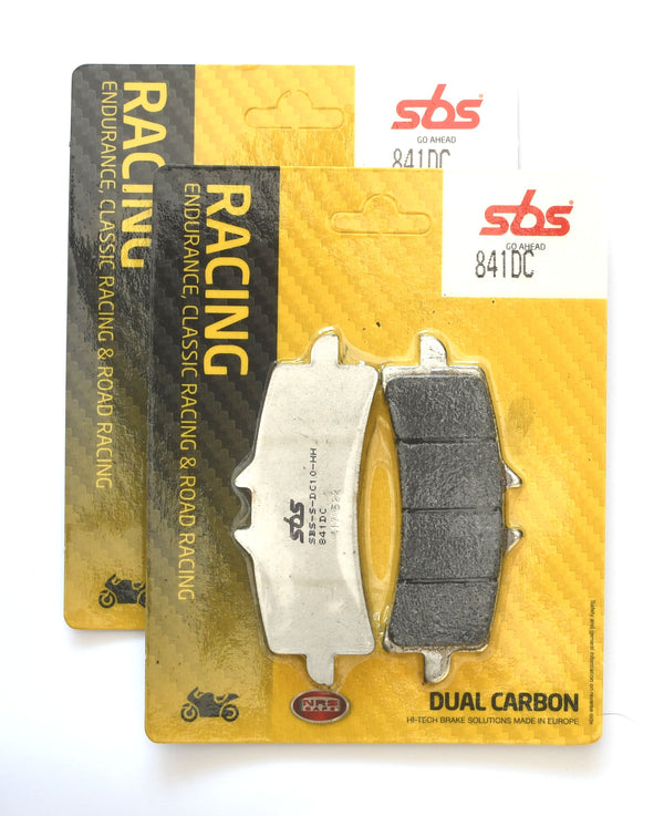 SBS 841DC Dual Carbon Racing Brake Pads (Full Front Set)