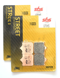 SBS 870HS Street Sinter Brake Pads (Full Front Set)