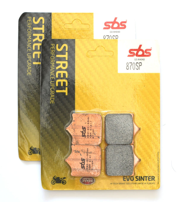 SBS 870SP Evo Sinter (Performance Upgrade) Brake Pads (Full Front Set)