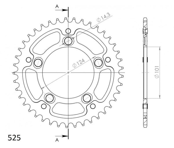 Supersprox Rear Sprocket 991 - Choose Your Gearing