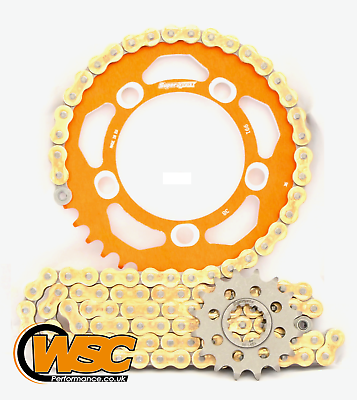 Supersprox Aluminium Sprocket Kit - DID ZVMX Super Street Chain