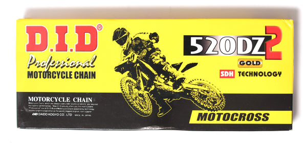 DID 520 DZ2 Off Road Chain 120 Links - Gold
