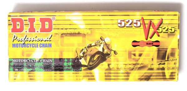 DID 525 VX Pro Street Heavy Duty Chain 106 Links - Gold
