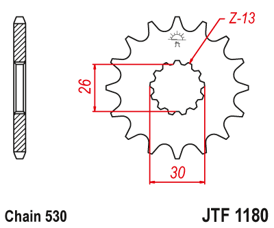 JT Steel Front Sprocket JTF1180.18