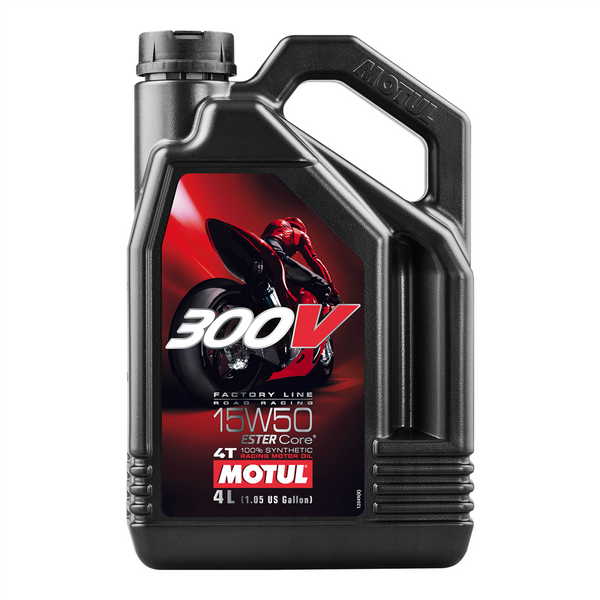 Motul 300V 4T Factory Line Ester Fully Synthetic Oil 15w50 4L