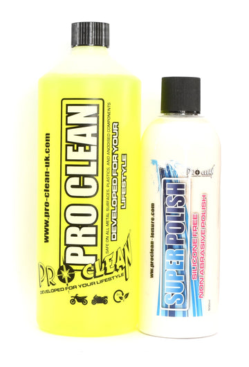 Pro-Clean Bike Cleaning and Polish Set