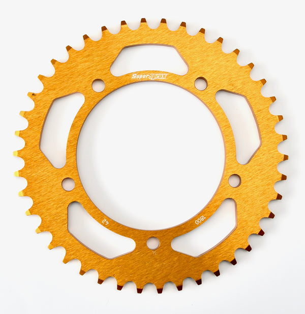 Supersprox Aluminium Rear Sprocket RAL-1800:42-GLD
