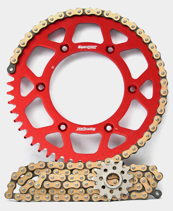 Supersprox Chain & Aluminium Sprocket Kit for Honda CR125R 2004-2007 - Choose Your Gearing