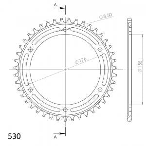 Supersprox Steel Rear Sprocket RFE2011.43