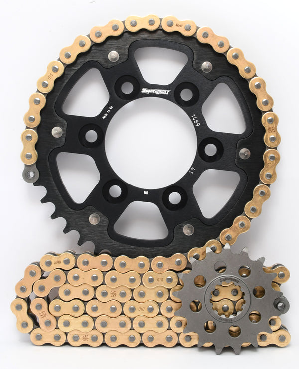 Supersprox Chain & Sprocket Kit for Kawasaki ZX7RR 96-99 - Standard Gearing