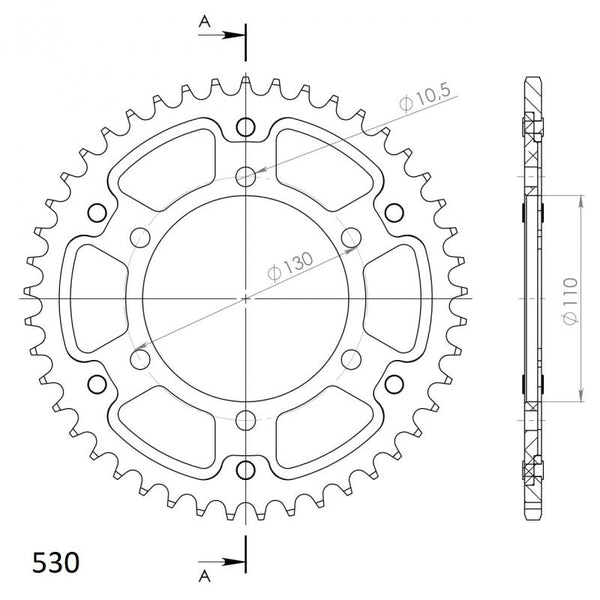 Supersprox Stealth Rear Sprocket RST479.42 - Standard