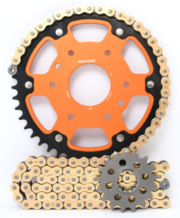 Supersprox Chain & Sprocket Kit for KTM 390 RC and Duke - Standard Gearing