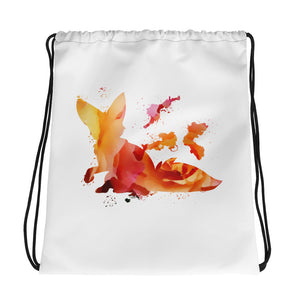 Kordelzugtasche Fuchswelpen Rosa-Orange - Colorshape.eu