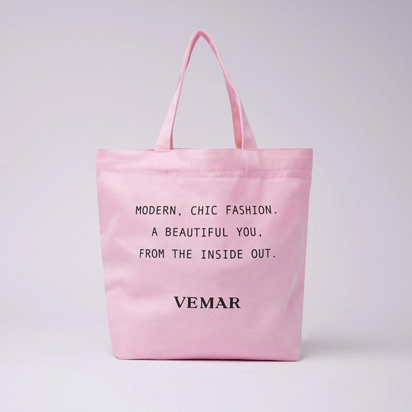 Vemar Canvas Tote bag (PINK) - VEMAR MALAYSIA I A beautiful you,from the inside out.