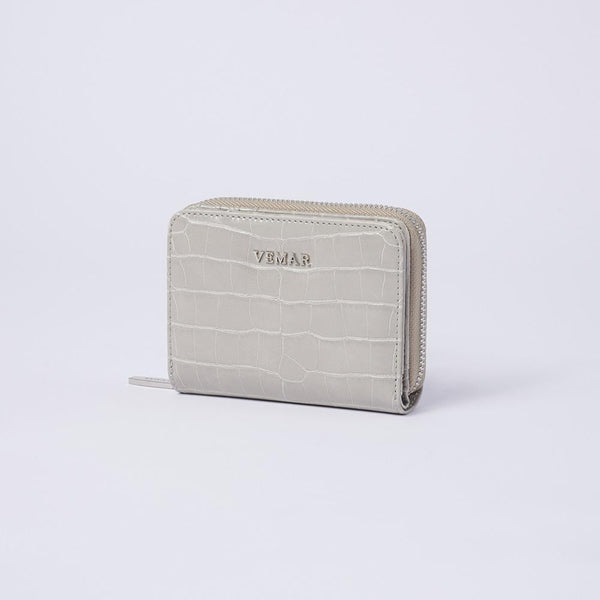 Camille - Croc-effect Leather Small Wallet - (GY) - VEMAR MALAYSIA I A beautiful you,from the inside out.
