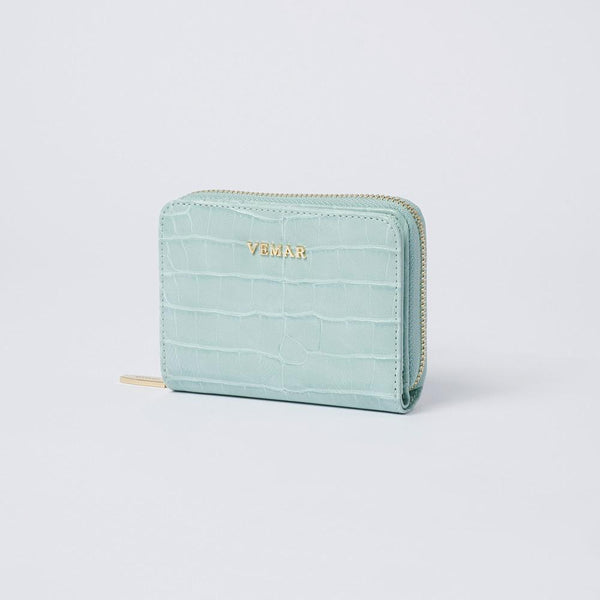Camille - Croc-effect Leather Small Wallet - (AQ) - VEMAR MALAYSIA I A beautiful you,from the inside out.