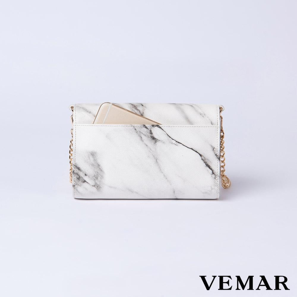 Vemar Marble Texture Shoulder Bag