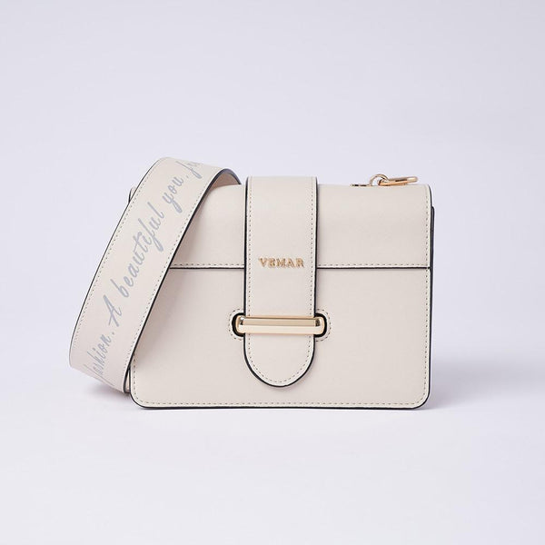 Charlotte Max -Classic Square Bag With Clash Color (WH)