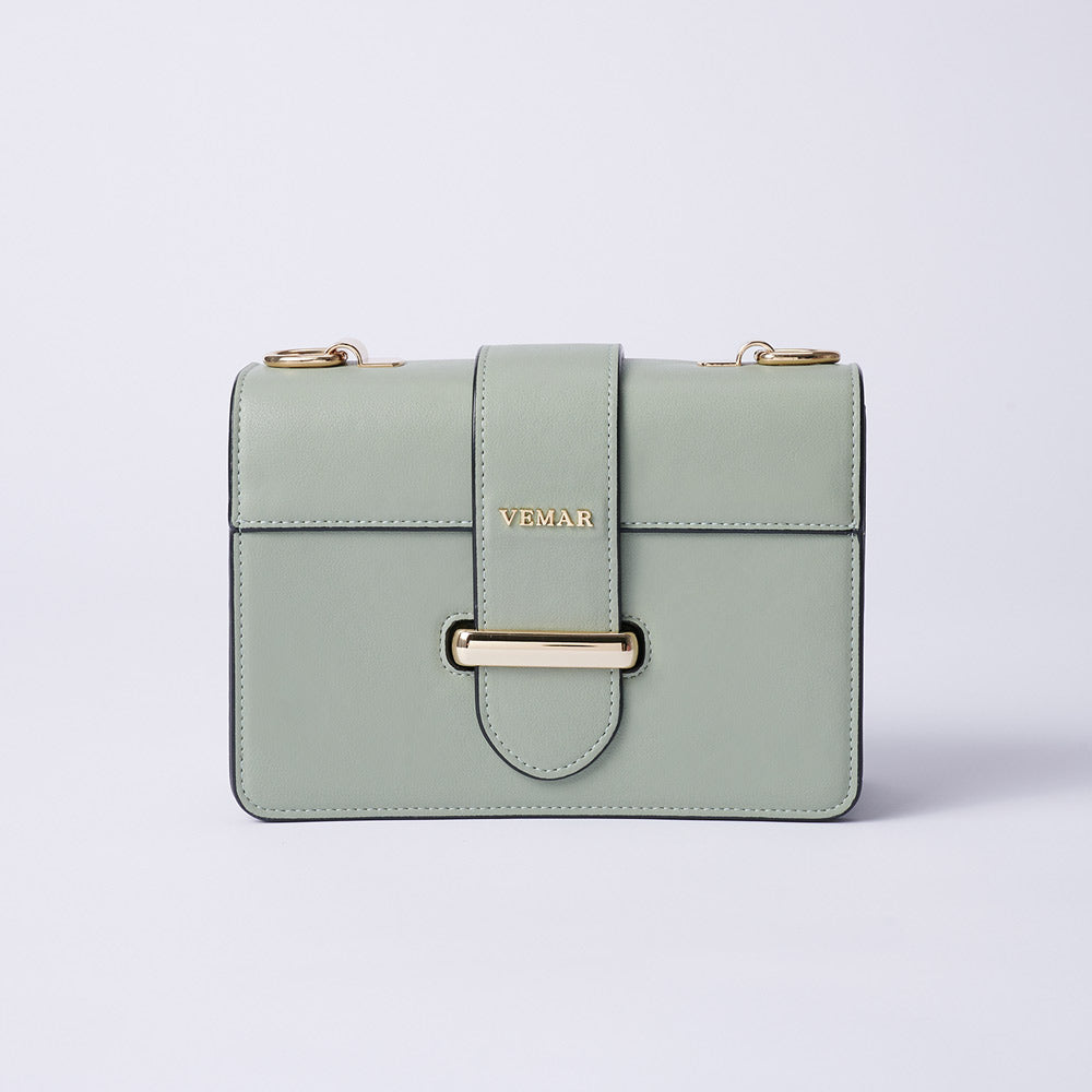 Charlotte Max - Classic Square Bag With Clash Color (GR)