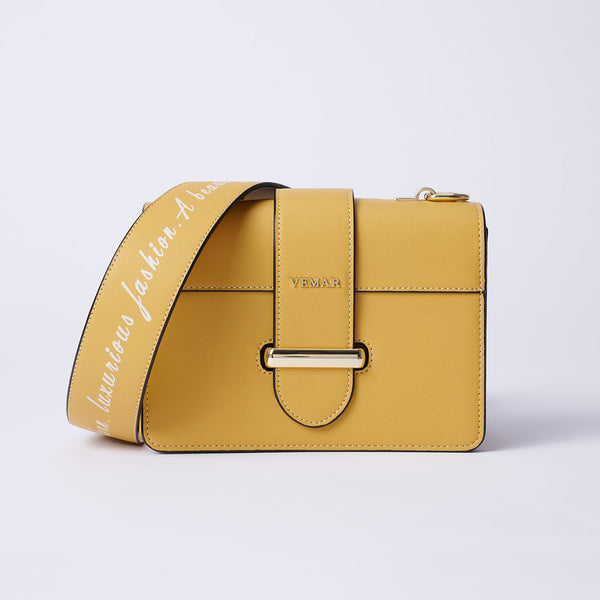Charlotte Max - Classic Square Bag With Clash Color (YL)