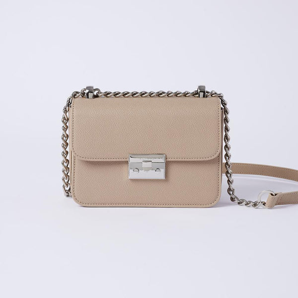 Eileen - Classic Chain Link Small Crossbody Bag (KHAKI) - VEMAR MALAYSIA I A beautiful you,from the inside out.