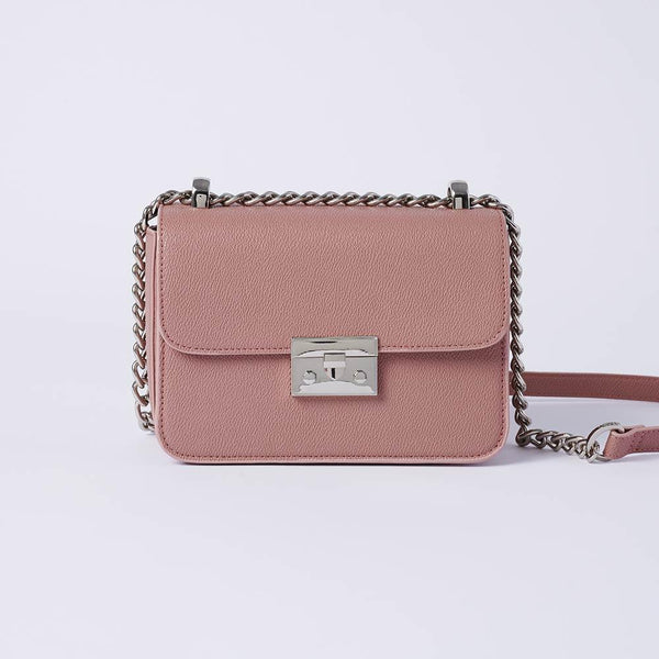 Eileen - Classic Chain Link Small Crossbody Bag (PK) - VEMAR MALAYSIA I A beautiful you,from the inside out.