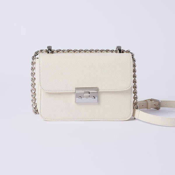 Eileen -  Classic Chain Link Small Crossbody Bag (WH) - VEMAR MALAYSIA I A beautiful you,from the inside out.
