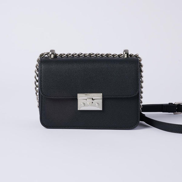 Eileen - Classic Chain Link Small Crossbody Bag (BK) - VEMAR MALAYSIA I A beautiful you,from the inside out.