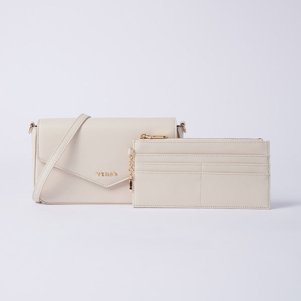 Anila - Vemar Elegant Crossbody Bag With Chain Strap (WH)