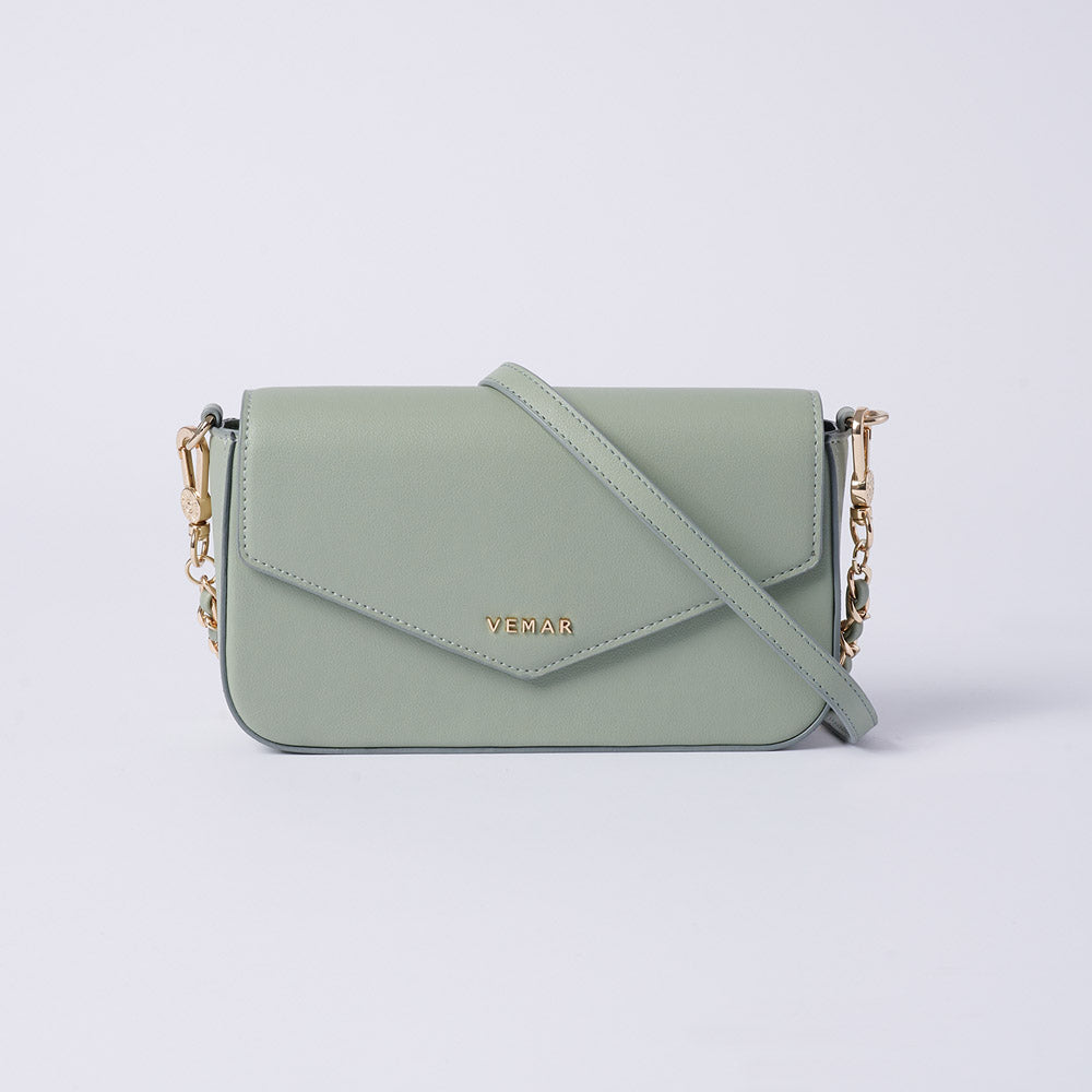 Anila - Vemar Elegant Crossbody Bag With Chain Strap (GR)
