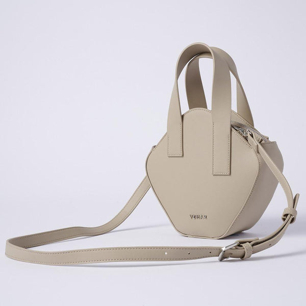 Elaine - Basic Irregular Cube Crossbody Bag (TAN) - VEMAR MALAYSIA I A beautiful you,from the inside out.